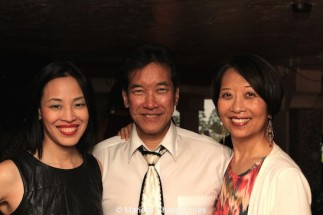 Lia Chang, Peter Kwong and Jeanne Sakata at Far Bar in LA on April 8, 2015. Photo by Marissa Chang-Flores